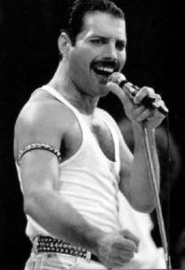 Freddie Mercury BW